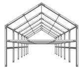 Steel frame building project scheme — ストックベクタ