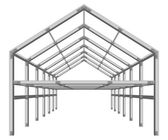 Steel frame building project scheme — Cтоковый вектор