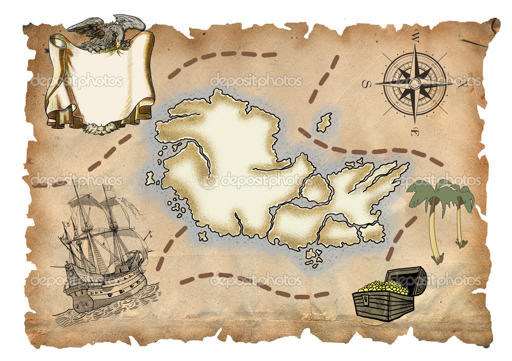 Old Pirate Map Old pir...