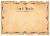 Certificate — Stock Photo