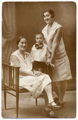 Old family portrait — Stock Photo