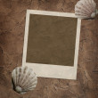Texture wall background with frame — Stock Photo