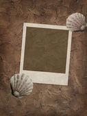 Texture wall background with frame — 图库照片