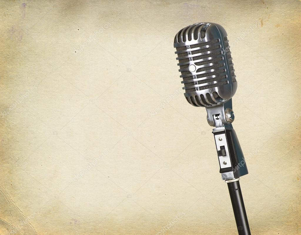 Retro microphone — Stock Photo #12022302