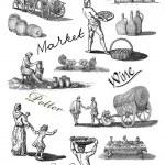 Old village illustration — Stock Photo #12044415