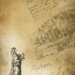 Old village trader illustration — Stock Photo #12044526