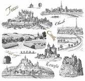Ilustração de vila velha — Foto Stock