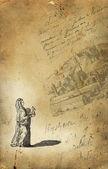 Old village trader illustration — Стоковое фото