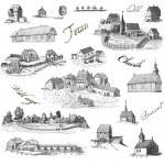 Old village illustration — Stock Photo #12054368
