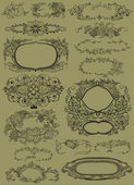 Cartouche set illustration — Stock fotografie