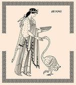 Old greek goddess artemis — Stock Photo