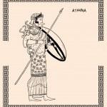 Old greek goddess athena — Stock Photo