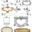 Cartouche set illustration — Stock Photo