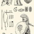 Stock Photo: Old greek set illustration
