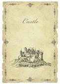 Old castle illustration — Stock Photo