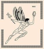 Old greek god eros — Stock Photo