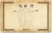 Old greek graces — Stock Photo