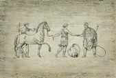 Old greek illustration — Stock Photo