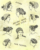 Ancient greek hair style — Stock Photo
