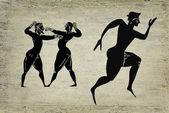 Old greek sportsmens — Stock Photo