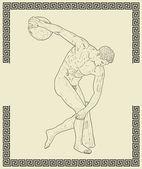 Old greek sportsmen — Stock Photo