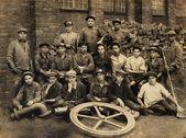 Starych fotografii pracowników — Zdjęcie stockowe