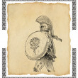 Stock Photo: Old greek soldier