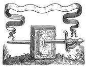 古い剣イラスト — ストック写真