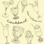 Cocktail set — Stock Photo