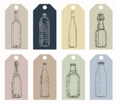 Glass bottle set — Stock Photo