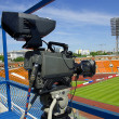 Video camera on stadium — Stock Photo