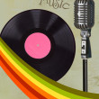 Music theme drawings -retro banners — Stock Photo #12138942