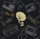 Old radio illustration — Stock Photo