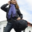 Active woman with backpack — Stock Photo #12622340