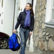 Active woman with backpack — Stock Photo #12622444