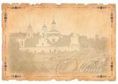 Oude ansichtkaart met vilnius uitzicht — Stockfoto