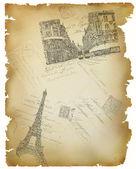 Old postcards illustration — Stock Photo