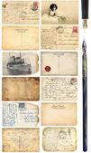 Oude ansichtkaarten set — Stockfoto