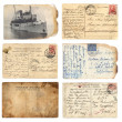 Stock Photo: Old postcards set