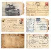 Old postcards set — Stock Photo