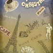 Christmas background cafe — Foto de Stock