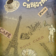 Christmas background cafe — 图库照片