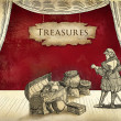 Treasures illustration — Stok fotoğraf