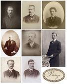 Vintage set portraits — Stock Photo