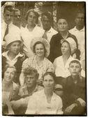 Vintage group portrait — Stock Photo