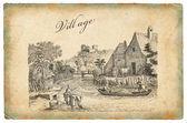 Ilustración de la aldea — Foto de Stock