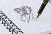 Pegasus-abbildung — Stockfoto