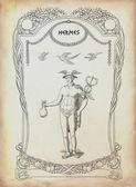 Greek god Hermes illustration — Stock Photo