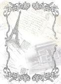 Paris theme illustration — Stock Photo