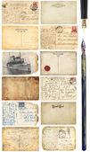 Jeu de cartes postales anciennes — Photo